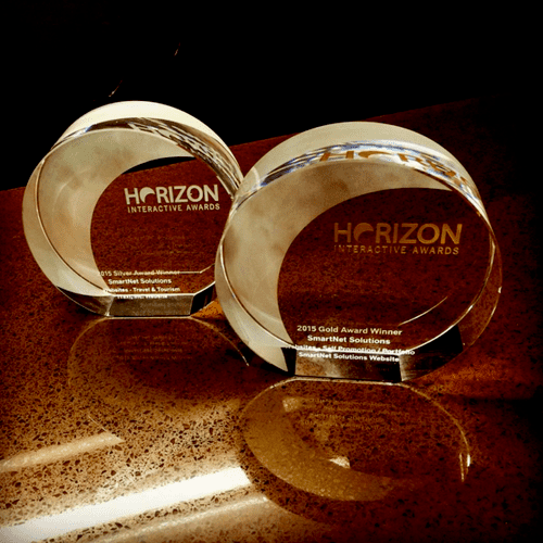 Awards for our very own SmartNet company website, as well as a client website for E-Hail by iTaxi, Inc.