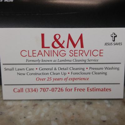 Avatar for L & M  CLEANING SERVICE