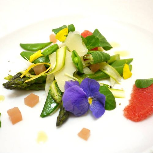 Shaved asparagus and citrus salad