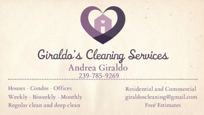 Avatar for Giraldo's cleaning services