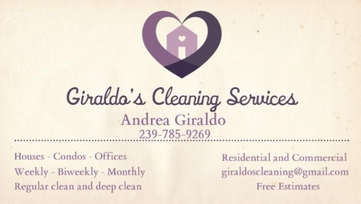 Giraldo's cleaning services