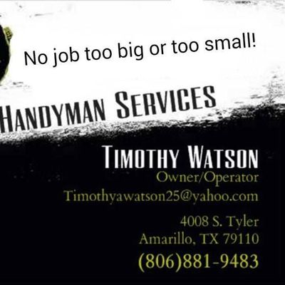 Avatar for Tim's Handyman service Amarillo, TX Thumbtack