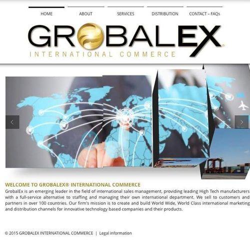 GrobalEX International Commerce Logo, Branding and Website