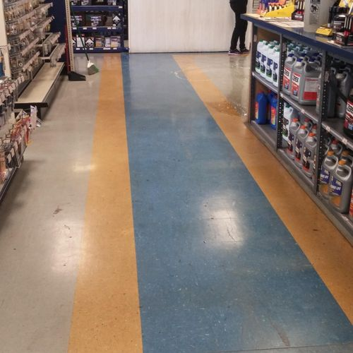 Before Floor waxing services