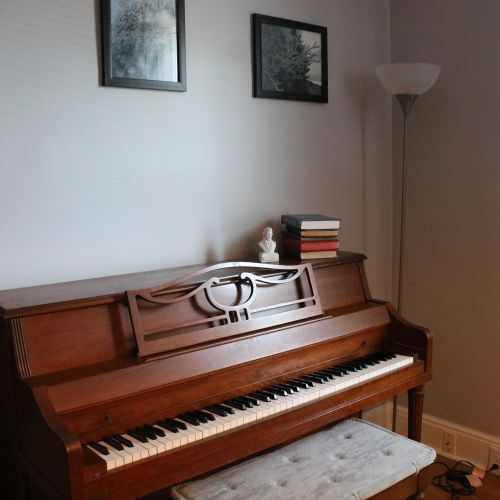 I also own a real piano, in a separate room.