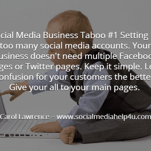 Your business doesn't need multiple Facebook pages or Twitter pages.