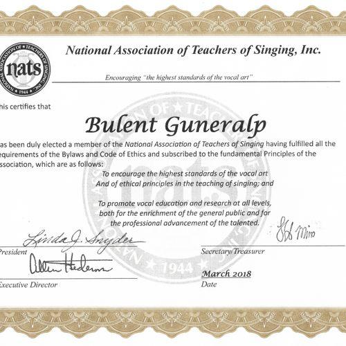 NATS Certificate