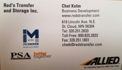 Avatar for Red's Transfer & Storage. Inc. Saint Cloud, MN Thumbtack