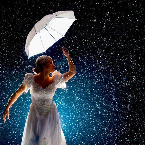 Creative Bridal Portrait in SC Snow