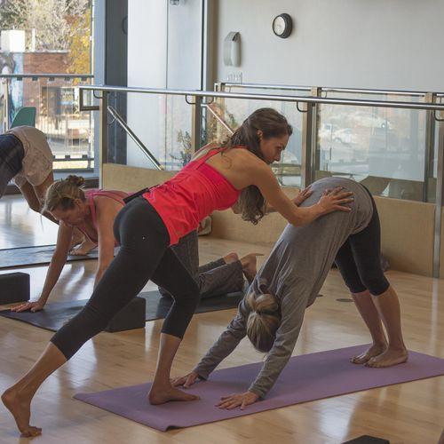 Vinyasa class at Centered City Yoga, SLC UT