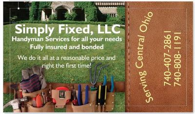 Avatar for Simply Fixed Services Crown City, OH Thumbtack