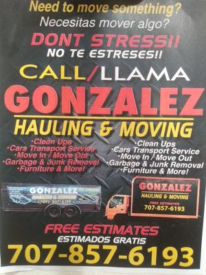 Avatar for gonzalez hauling and moving Santa Rosa, CA Thumbtack