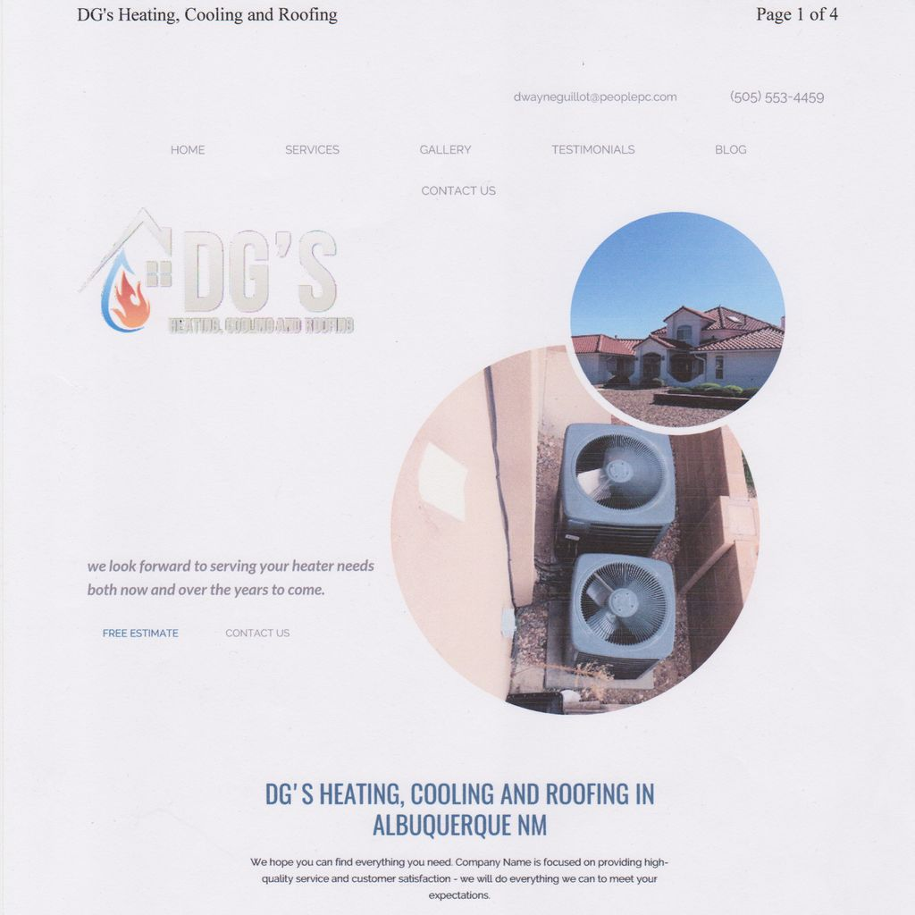 DG,S HEATING/COOLING/ROOFING
