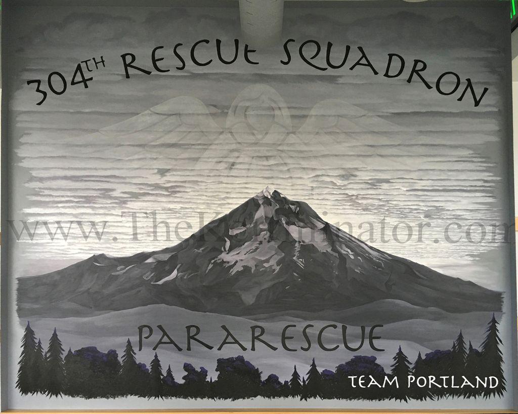 USAF Pararescue Mural