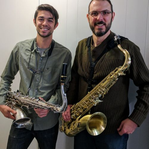 Me with one of my tenor saxophone students.