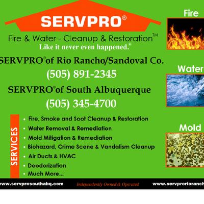 Avatar for Servpro of Rio Rancho and South Albuquerque Albuquerque, NM Thumbtack