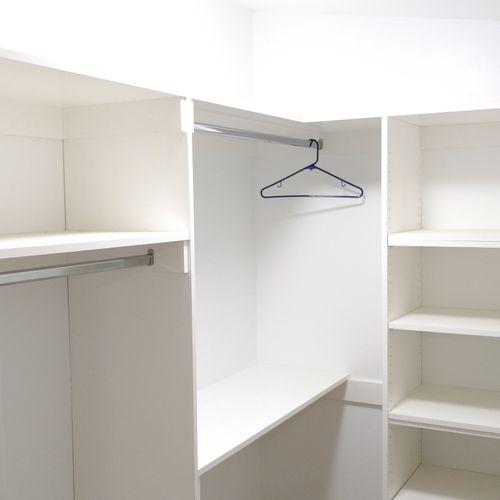 We also can make custom closet organizers.