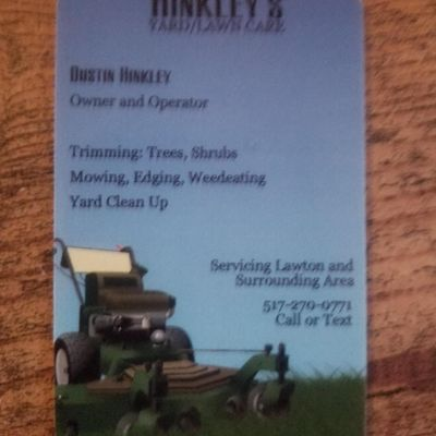Avatar for hinkley's lawn&yard care