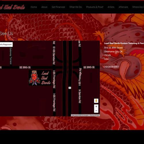 Lead Sled Devils Custom Google Map Design
