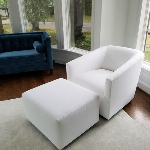 linen upholstery cleaning & fiber protectant