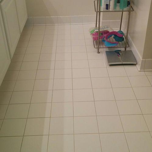 Bathroom Floor Cleaned