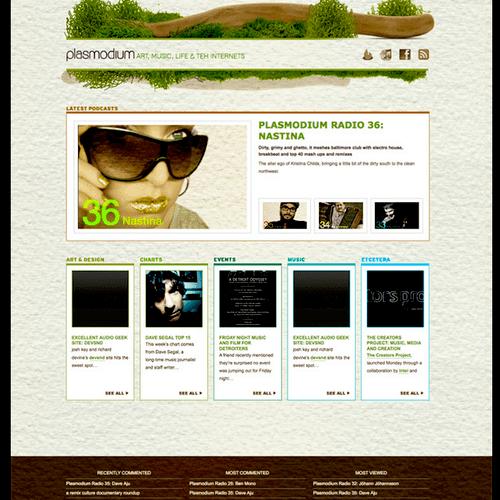 Web design: plasmodium.net