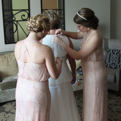 Bride Prep, with daughters help! New Orleans LA..