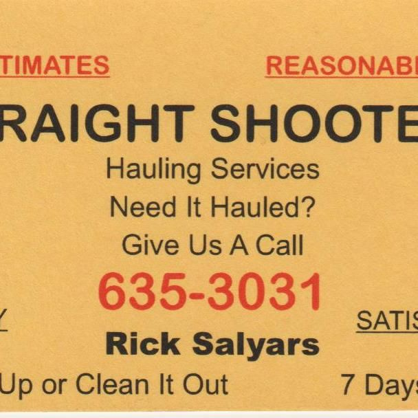 Straight Shooters Trash out Services