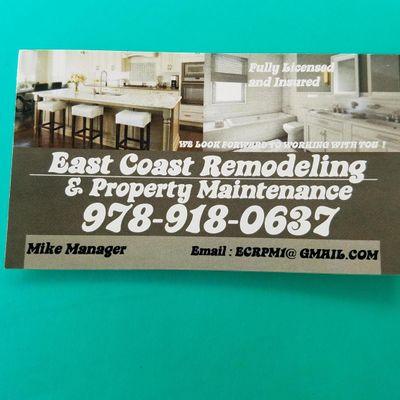 Avatar for East Coast Remodeling & Property Maintenance Atkinson, NH Thumbtack