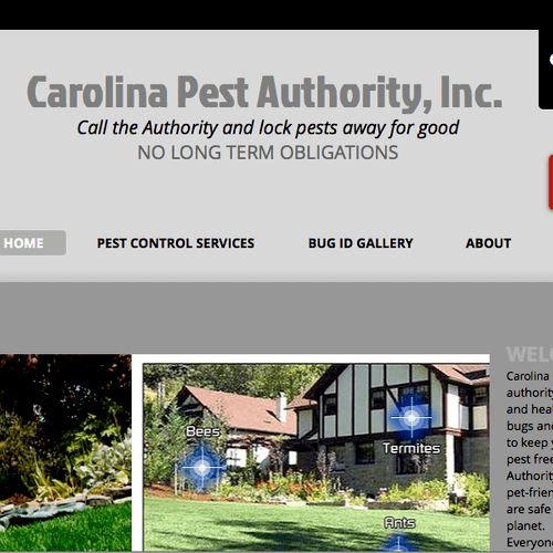 Home page for Carolina Pest Authority