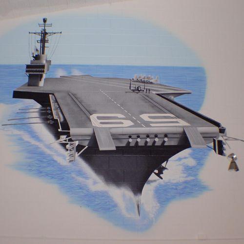 Forrestal Elementary School Gym in Great Lakes, IL - USS Forrestal CV-59