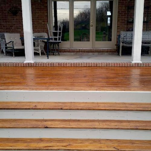 Professional deck restoration