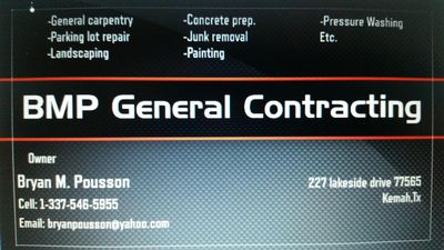 Avatar for BMP General Contracting Eunice, LA Thumbtack