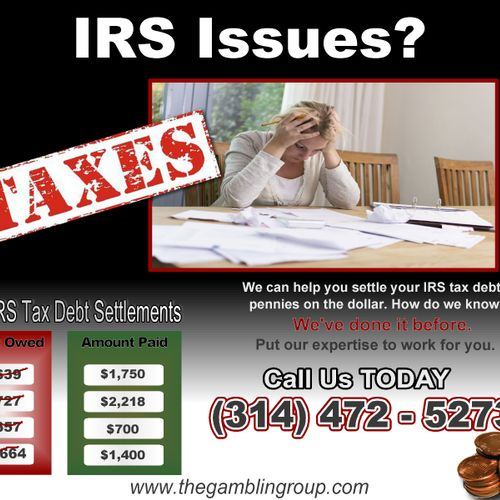 IRS Issues?  We can help end the Nightmare.  Call us TODAY!