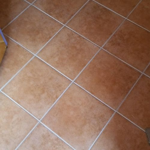 Grout line sealing services.