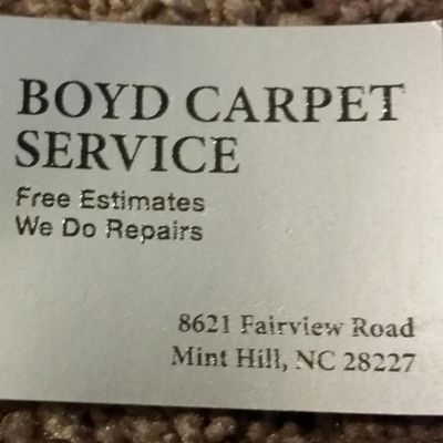 Avatar for Boyd Carpet Service Marshville, NC Thumbtack