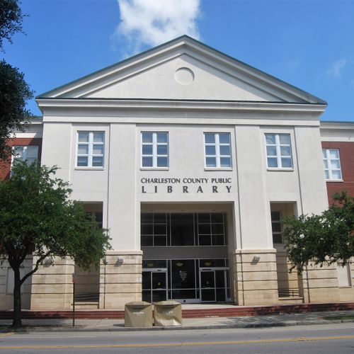 Charleston County Public Library, 68 Calhoun Street, where I usually meet clients who meet me in person
