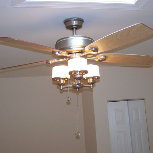New ceiling fan install