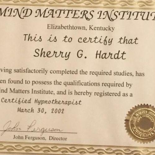 Certified Hypnotherapist Certificate