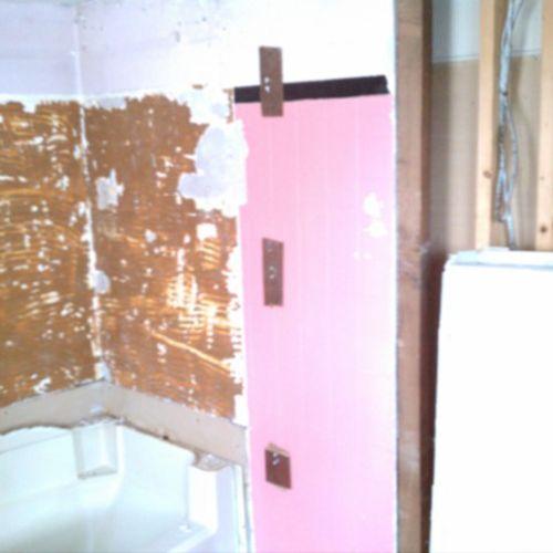 Before, bath tub/shower