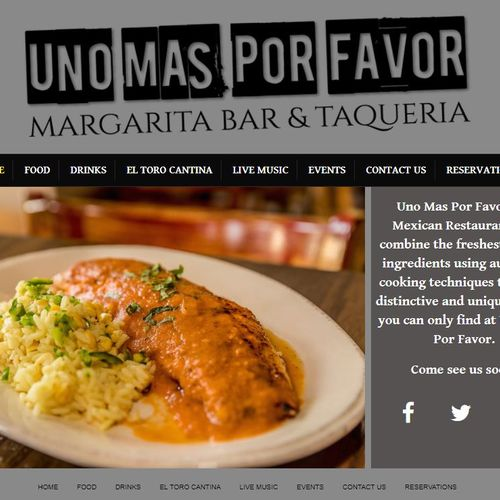 Mexican Food Restaurant with a classic web design. Check it out here: unomasglen.com