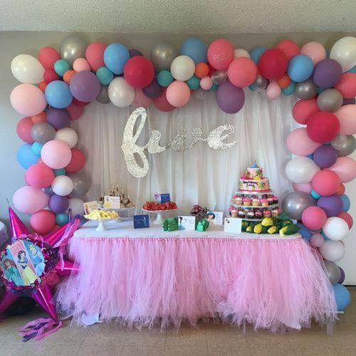 Organic Birthday Arch