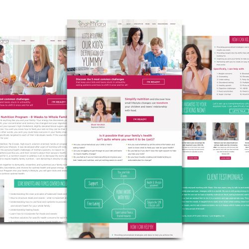 Custom Wordpress website for dietitian