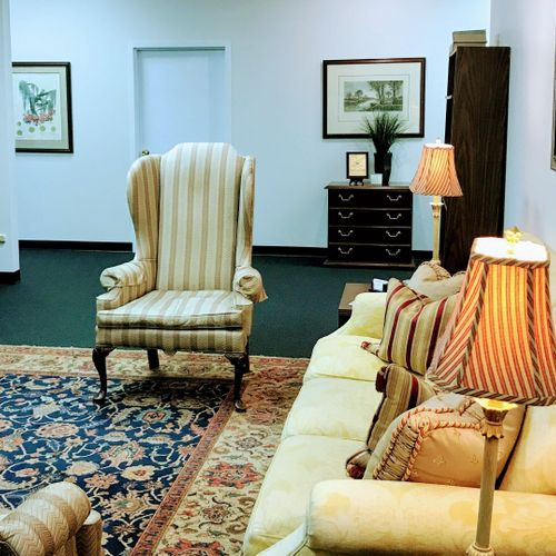 Our lobby/waiting area at Everette Law.