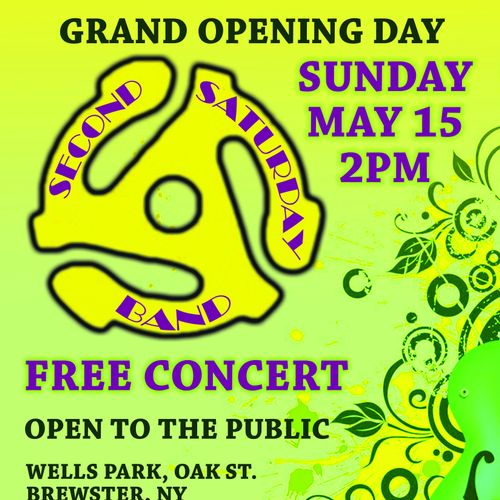 Concert on Grand Opening day of Park
