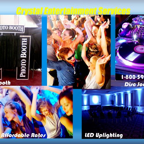 DJ, Photobooth, LED uplighting