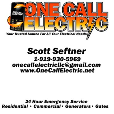 Avatar for One Call Electric NC LLC Cary, NC Thumbtack
