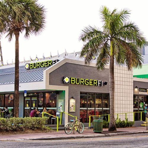 Burgefi commertial storefront installation. Miami Beach