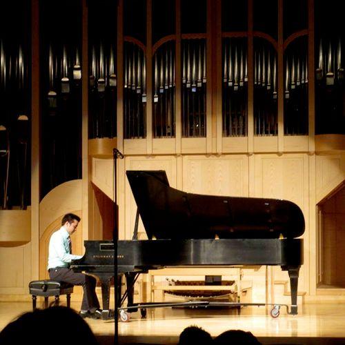 Me performing for my junior recital at UNLV