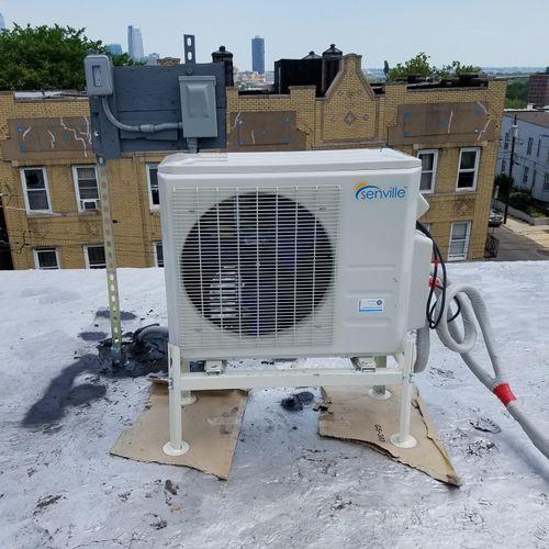 Rooftop mini split install